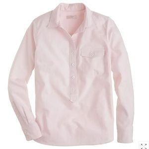 J.Crew Stripe Oxford Popover in Pink